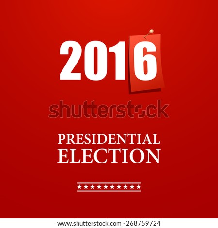 presidential election banner - stock vector