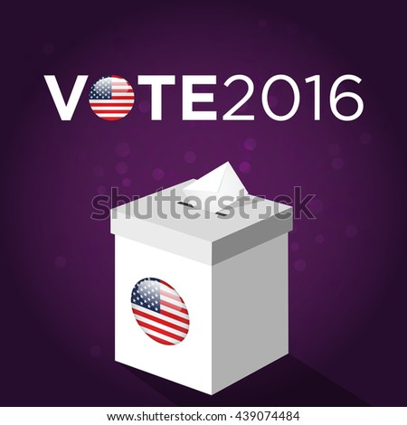Presidential Election Day 2016 Vote Box Vote 2016 Text American Flag S Symbolic Elements