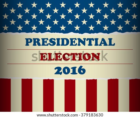 Presidential election in the USA - poster template