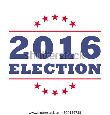 Presidential Election USA, 2016 Election logo isolated on white background, vector illustration