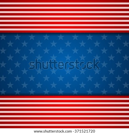 Presidents Day abstract USA flag colors background. Vector illustration - stock vector