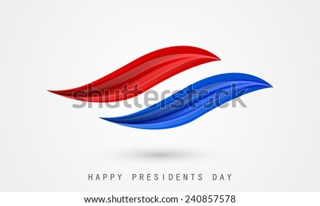 Presidents Day celebration concept with United State American flag color paint stroke. - stock vector