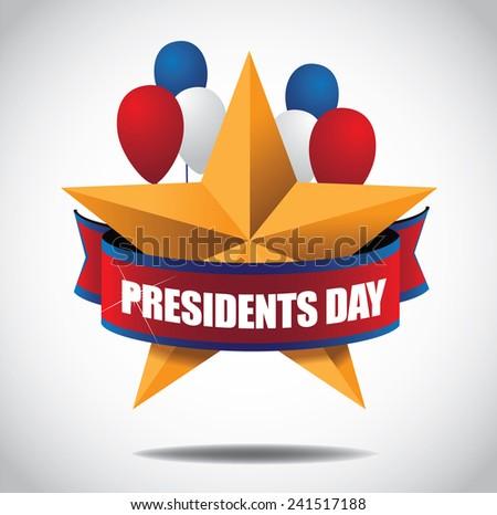 Presidents Day Icon EPS 10 vector stock illustration - stock vector