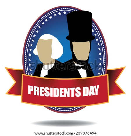 Presidents Day Icon stock illustration - stock vector