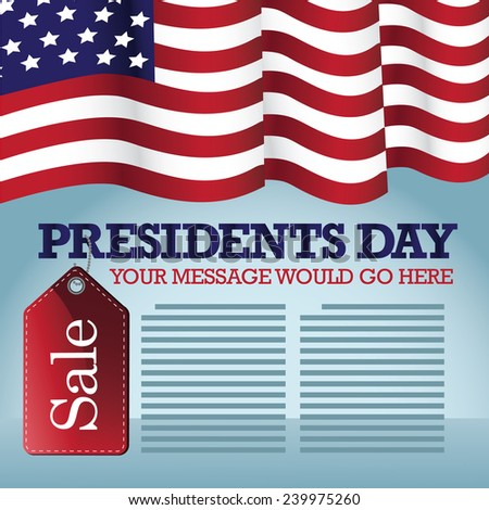 Presidents Day Sale Background EPS 10 vector stock illustration - stock vector