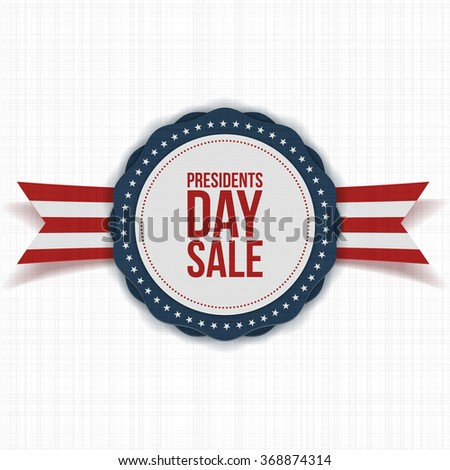 Presidents Day Sale national Banner with Text - stock vector