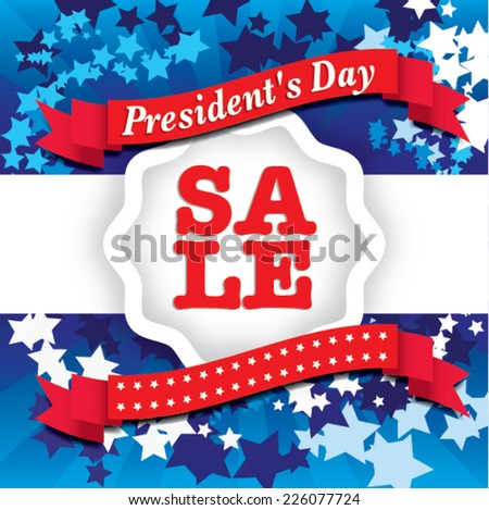 presidents day Sale - united states. vector illustration - stock vector