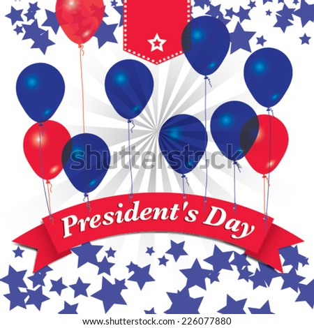 presidents day - united states. vector illustration - stock vector