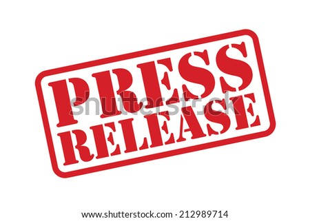 PRESS RELEASE red Rubber Stamp vector over a white background. - stock vector