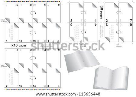 press templates for books and bulletins - stock vector