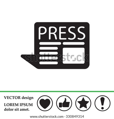 press the icon - stock vector