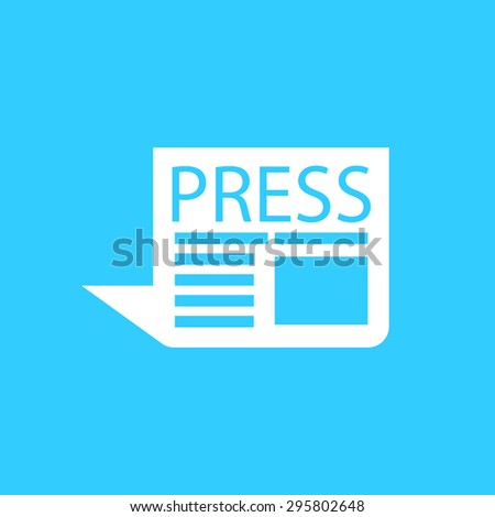 press the icon on a blue background - stock vector