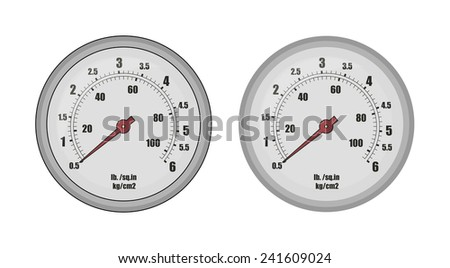 Pressure gauge bar icon. Clip art vector illustration isolated on white  - stock vector