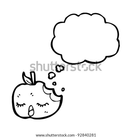 pretty apple with thought bubble