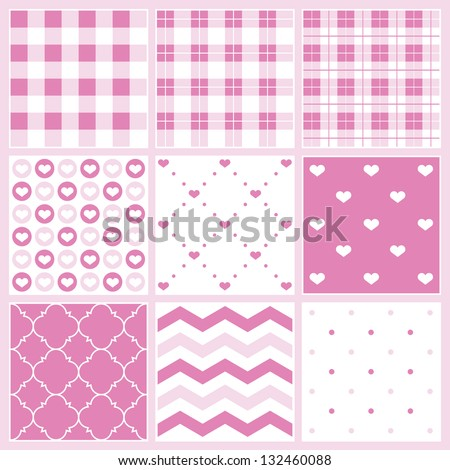 Pretty birthday pattern collection