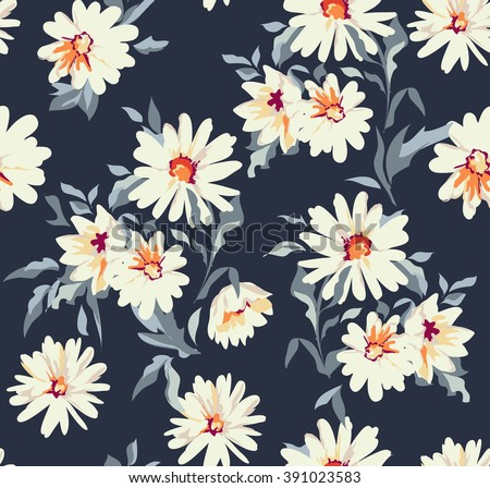 pretty daisy floral print ~ seamless background