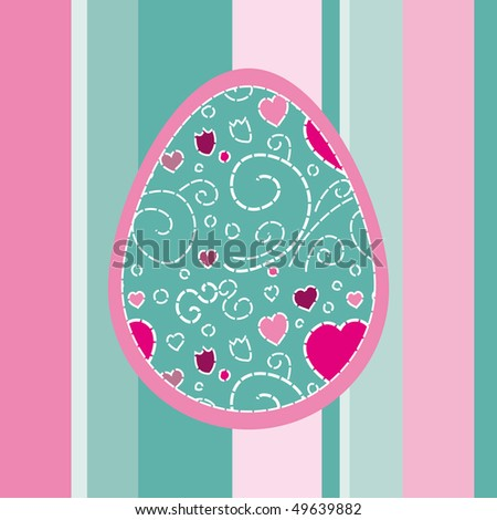 Pretty Easter card - stock vector