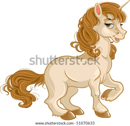 Pretty fabulous unicorn - stock vector