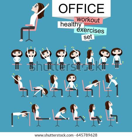 vector illustration office chair yoga business stock vector