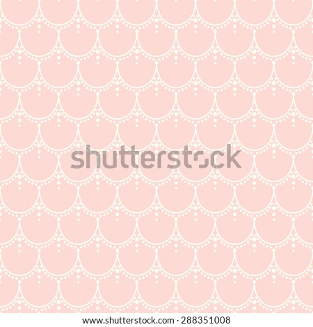 Pretty seamless curly pattern. Vector repeating lace texture. Stylish background. - stock vector