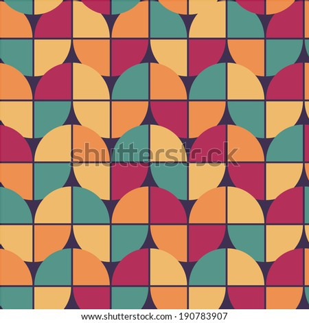 pretty seamless pattern in retro style