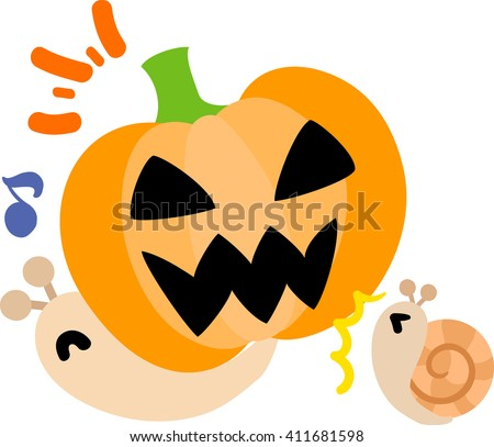 Pretty snails and a pumpkin