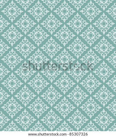 pretty wallpaper pattern - stock vector