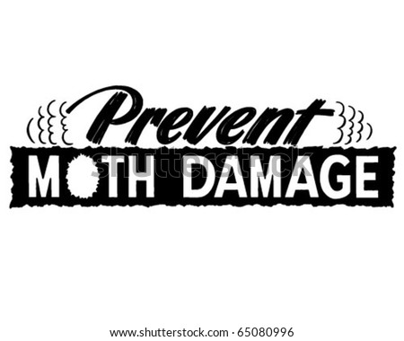 Prevent Moth Damage - Ad Header - Retro Clipart