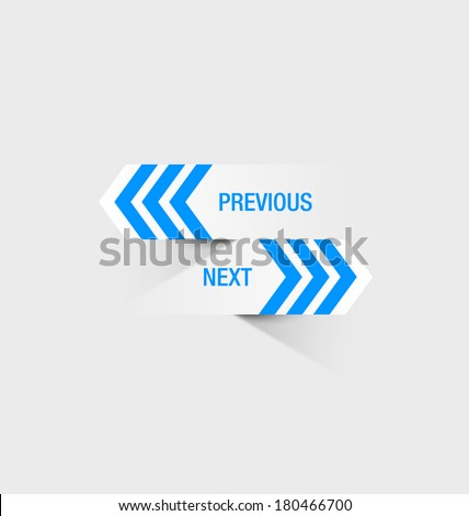Previous and next navigation buttons suitable for custom web design or computer purposes - stock vector