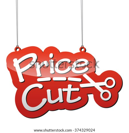 price cut, red vector price cut, background price cut, illustration price cut, tag price cut, element price cut, sign price cut, design price cut, picture price cut, illustration price cut - stock vector