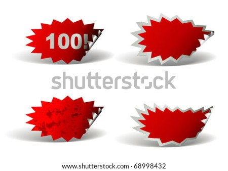 Price Lables - stock vector