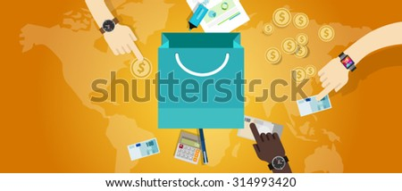price pricing concept commerce business market buy money - stock vector