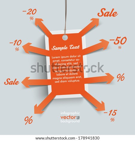 Price sticker with arrows - stock vector