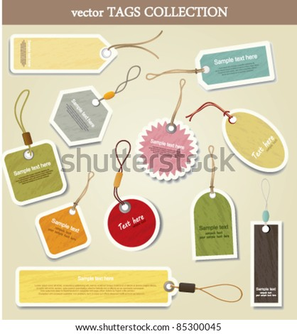 Price tag. collection - stock vector