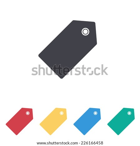 price tag icon - stock vector