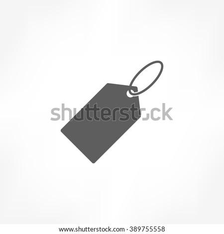 price tag icon - stock vector