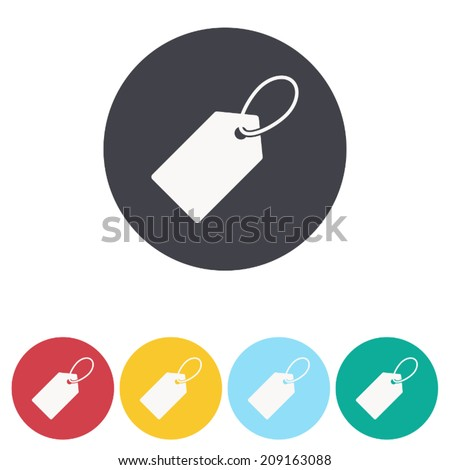 price tag icon , vector illustration - stock vector