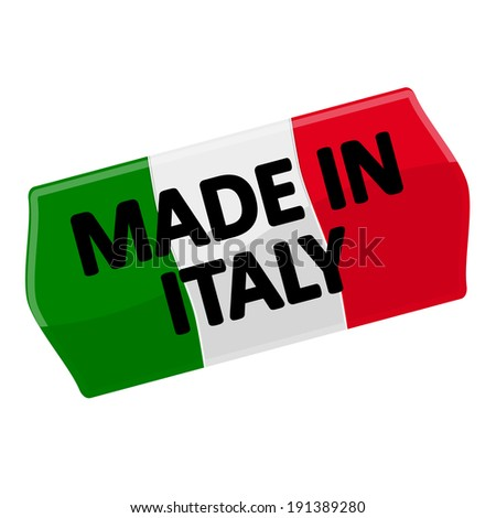 """price tag """"MADE IN ITALY"""" - stock vector"""