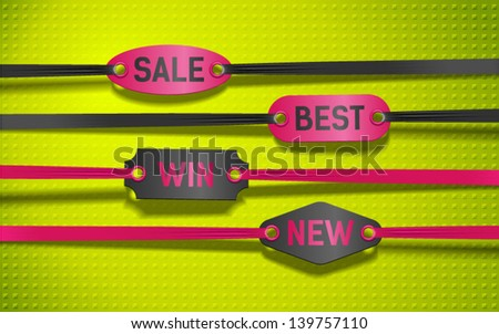 price tag, marker, label - stock vector