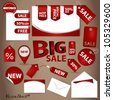 Price Tag Set. Vector illustration. - stock vector