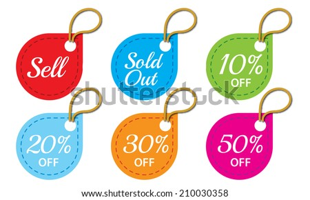 Price tag vector - stock vector