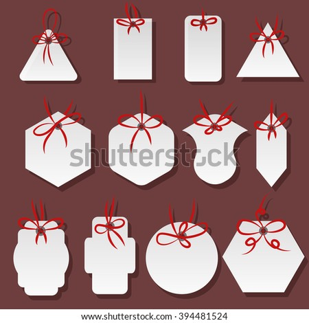 Price tags and gift cards set design vector illustration eps 10 - stock vector