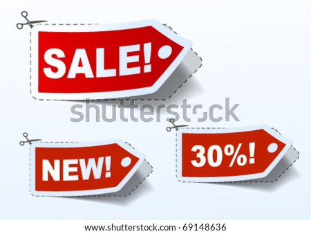 Price tags eps 10 - stock vector