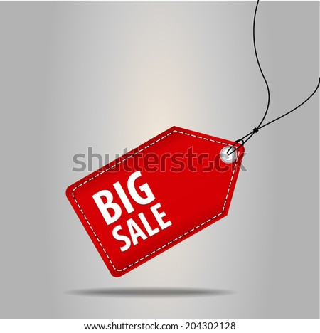 Price tags set one. - stock vector