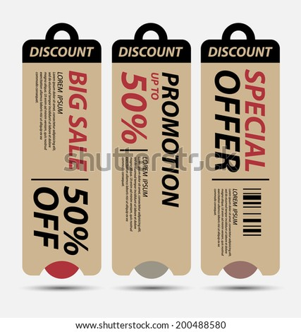 Price Tags vector - stock vector