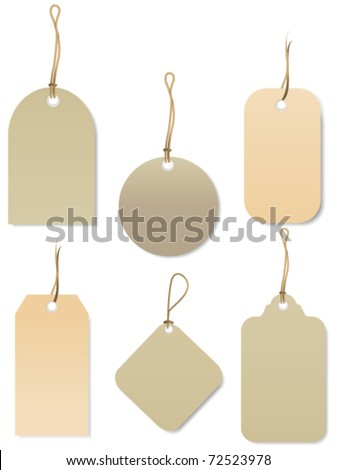 Price tags. Vector - stock vector