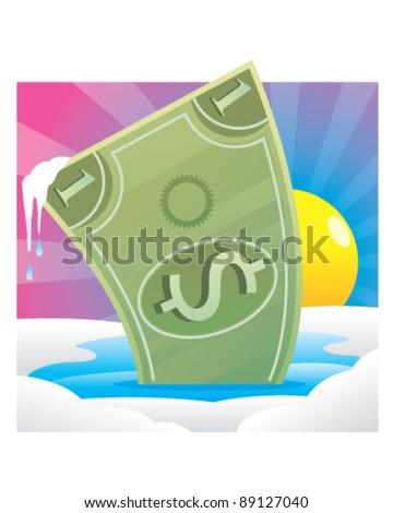 Price Thaw - stock vector