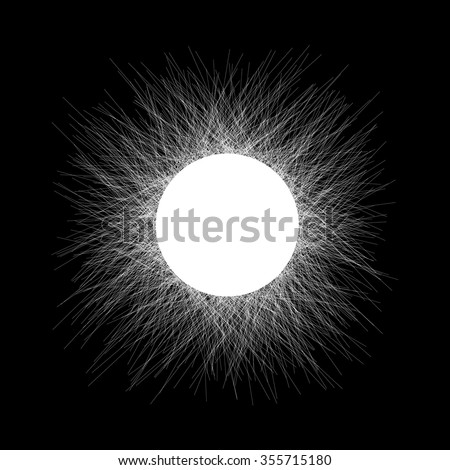 Prickly circle for design project - vector illustration  - stock vector