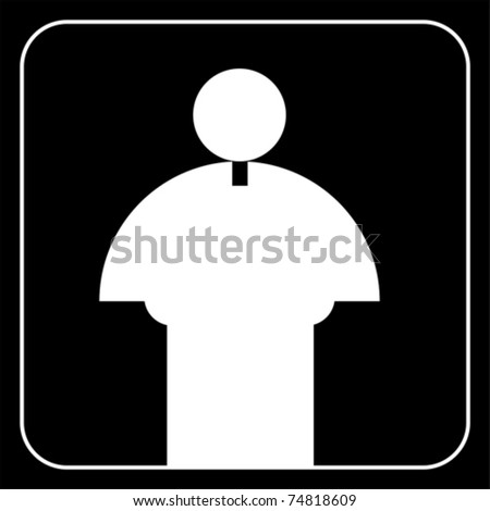 priest father sign vector