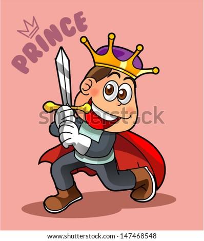 prince cartoon character 1 - stock vector